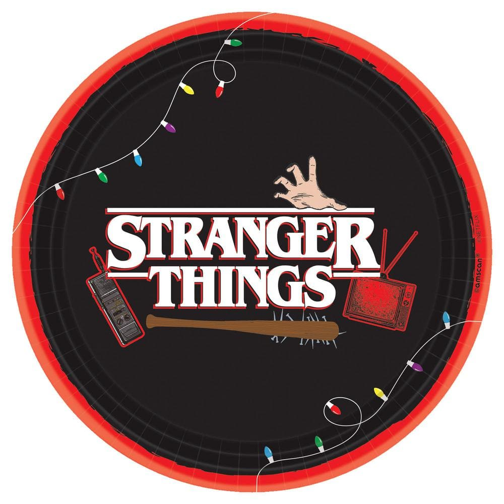 3 Pieces Amscan Stranger Things Canvas Bags Trick or Treating Officially Licensed by Amscan Halloween Party Favor Supplies