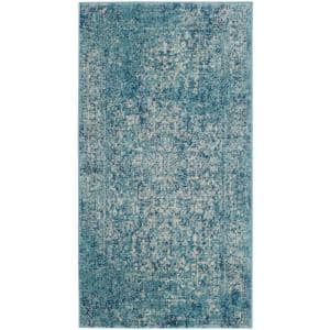 Evoke Blue/Ivory 2 ft. x 4 ft. Area Rug