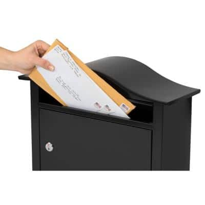 Saratoga Black Wall-Mount Lockable Mailbox