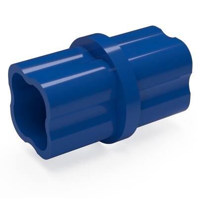 1/2 in. Furniture Grade PVC Sch. 40 Internal Coupling in Blue (10-Pack)