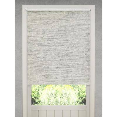 Cut-to-Size Heather Gray Cordless Light Filtering Natural Fiber Roller Shade 55.25 in. W x 72 in. L