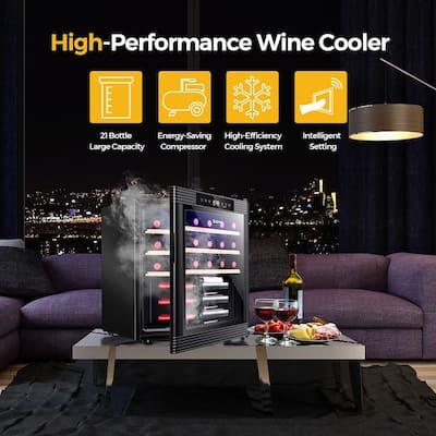 Dual Zone 21 Bottle Installation Type Wine Cooler
