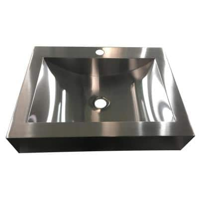 Hardy 16.5 in. Undermount Bathroom Sink in Stainless Steel