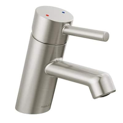Precept Single Hole Single-Handle Bathroom Faucet in Brushed Nickel