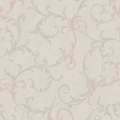Scroll Rose Gold Wallpaper Sample