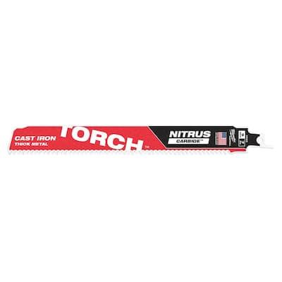 9 in. 7 Teeth per Inch TORCH Nitrus Carbide Teeth Thick Metal Cutting SAWZALL Reciprocating Saw Blade (1-Pack)