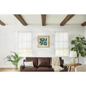 White Cordless Light Filtering Cellular Shade - 48.75 in. W x 48 in. L (Motorization Compatible)
