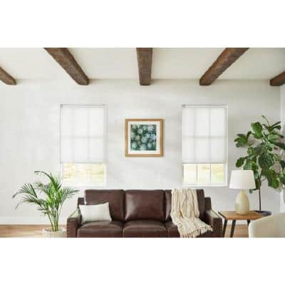White Cordless Light Filtering Cellular Shade - 48 in. W x 48 in. L (Motorization Compatible)
