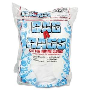 1 lb. Cotton Wiping Cloths (10 Cloths Per Bag)