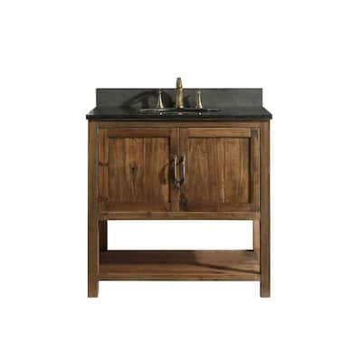 Austin 35.25 in. W x 21.5 in. D Bath Vanity Cabinet Only in Walnut