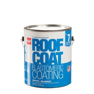 Roof Coat Top Coat 1 Gal. White Acrylic Reflective Elastomeric Roof Coating (7-Year Limited Warranty)