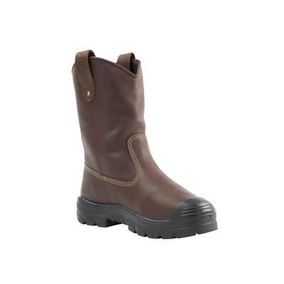 Men's Heeler Metatarsal Pull On PR Bump Cap 10 inch Work Boots - Steel Toe - Oak Size 10(M)