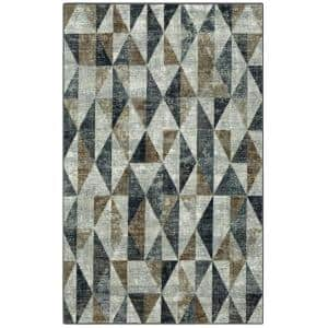Absolute Neutral 5 ft. x 8 ft. Geometric Area Rug