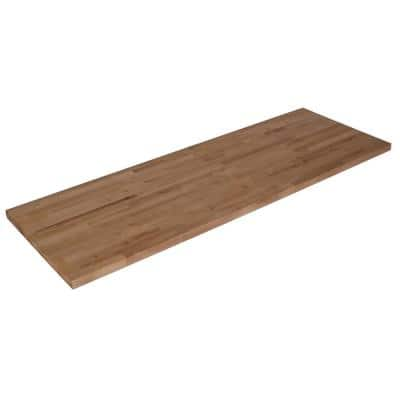 Unfinished Birch 8.17 ft. L x 25 in. D x 1.5 in. T Butcher Block Countertop