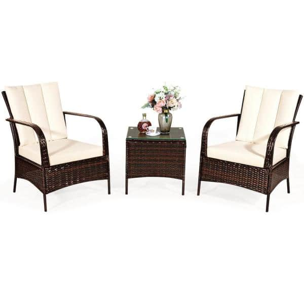 Reviews For Costway Mix Brown 3 Piece, Outdoor Furniture Reviews