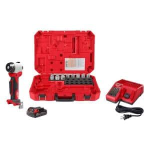 M18 18-Volt Lithium-Ion Cordless Cable Stripper Kit for Al THHN/XHHW Wire Cutting
