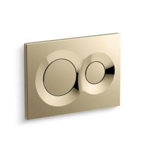 Flush Actuator Plate in Vibrant French Gold