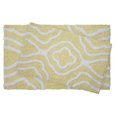 Reversible Cotton Soft Giri Banana 2-Piece Bath Mat Set