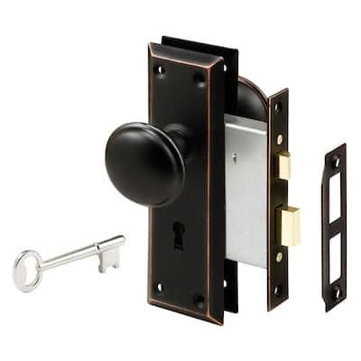 Steel, Classic Bronze, Interior Door Lock Lock-Set