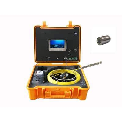 130 ft. Footage Counter Color Sewer Drain Pipe Inspection Camera with Self Leveling and 512Hz Sonde Transmitter