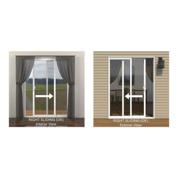 Jeld Wen 72 In X 80 In W 2500 Brilliant White Wood Clad Right Hand Full Lite Sliding Patio Door W Unfinished Interior S37485 The Home Depot