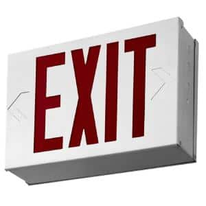 Titan Steel White LED Emergency Exit Sign
