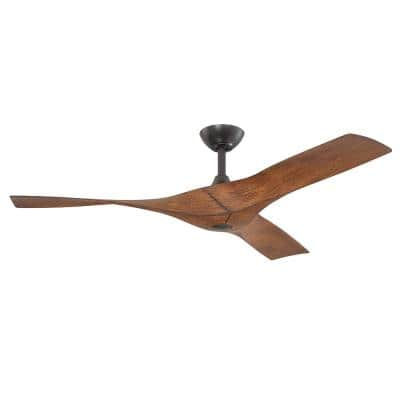 Wesley 52 in. Indoor/Outdoor Oil Rubbed Bronze DC Motor Ceiling Fan with Remote Control