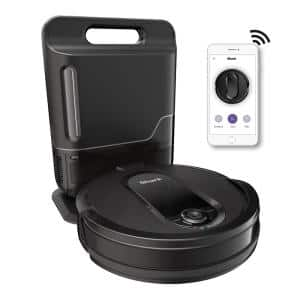 IQ Robot Self-Empty Vacuum with Self-Empty Base, Wi-Fi, Home Mapping