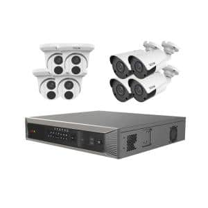 Ultra Plus Commercial Grade 16-Channel 4K 4TB Smart NVR Surveillance System with (8) 4K 8MP Indoor/Outdoor Cameras