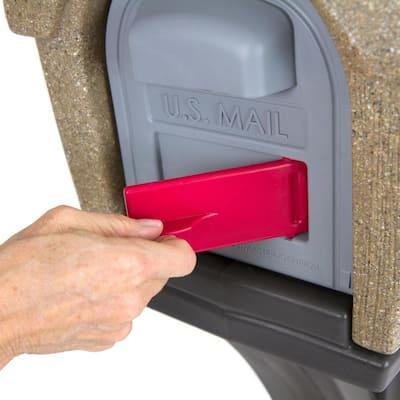 Rustic Home Sandstone / Espresso Post Mount Mailbox