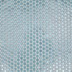 Joy Light Blue Circles 12.25 in. x 12.25 in. 6mm Polished Cermaic Mosaic Wall Tile (1.04 sq. ft. per Sheet)