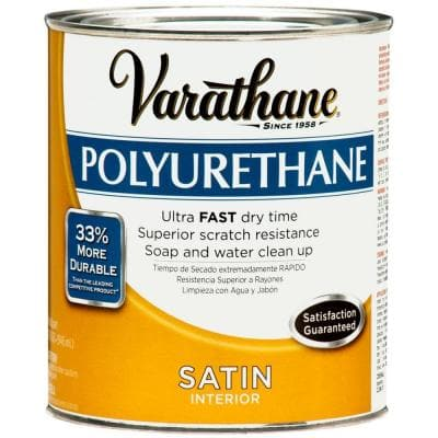 1 qt. Amber Satin Interior Polyurethane (2-Pack)