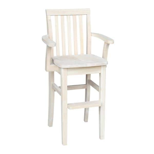International Concepts Unfinished Big Kid High Chair | The Home Depot
