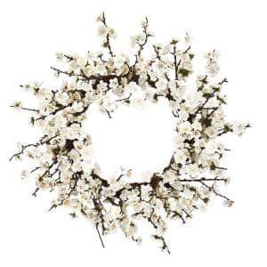 24 in. Plum Blossom Wreath