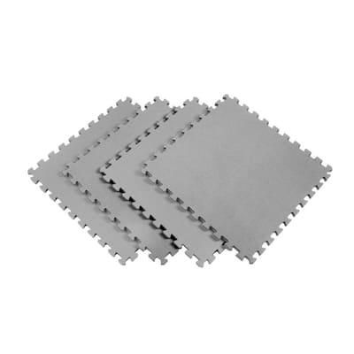 Gray 24 in. x 24 in. EVA Foam Solid Color Multi-Purpose Interlocking Tile (40-Tile)