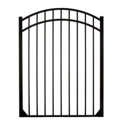 Meriden 4 ft. W x 4.5 ft. H Opening Single Arched Aluminum Gate