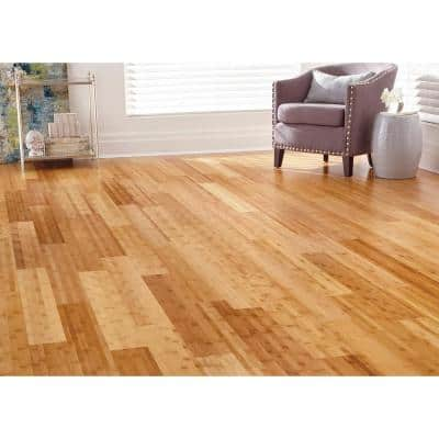 Horizontal Toast 3/8 in. T x 5 in. W x 38.59 in. L Engineered Click Bamboo Flooring