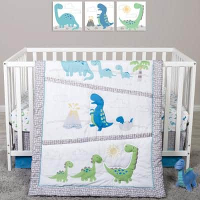 Dinosaur Pals 4-Piece Crib Bedding Set