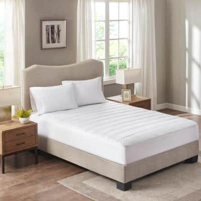 Cooling Waterproof White Queen Knit Mattress Pad