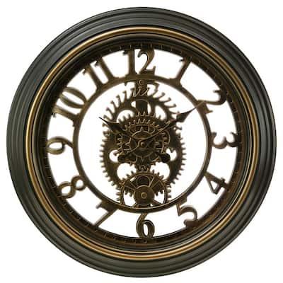 """kieragrace KG Gears Wall Clock - Bronze, 20"""""""
