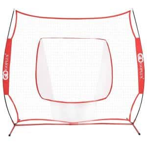 7 ft. x 7 ft. Red Baseball and Softball Hitting Batting Training Net