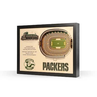 NFL Green Bay Packers 25 Layer Stadiumviews 3D Wooden Wall Art