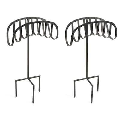 Decorative Steel Metal Manager Garden Hose Storage Stand (2-Pack)