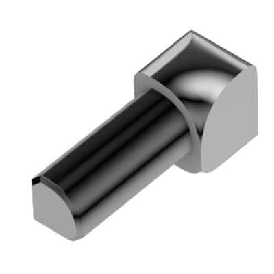 Rondec Polished Chrome Anodized Aluminum 1/4 in. x 1 in. Metal 90 Degree Inside Corner