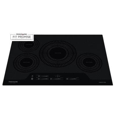 30 in. Smooth Electric Induction Cooktop in Black with 4 Elements