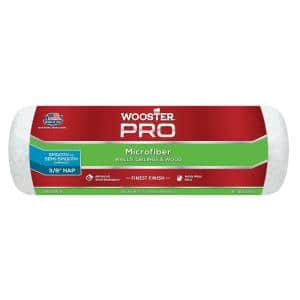 9 in. x 3/8 in. Pro Microfiber High-Density Fabric Roller Cover