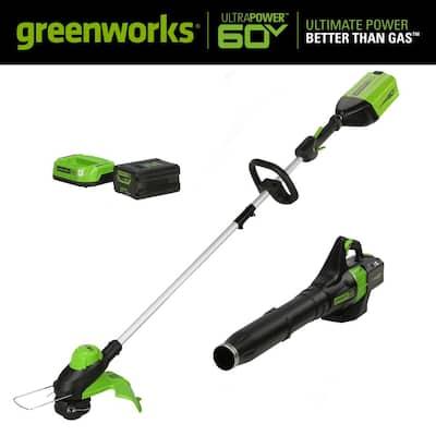 PRO 60V Cordless Brushless Cordless 13 in. String Trimmer/540 CFM Leaf Blower Combo Kit (2-Tool)