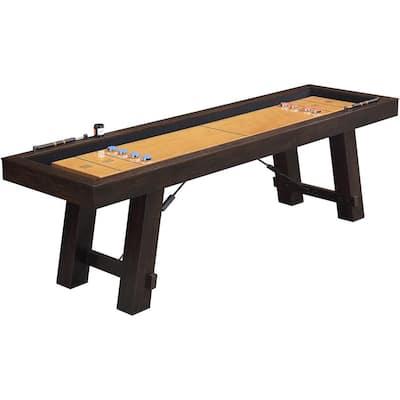 Butcher Block Shuffleboard Table