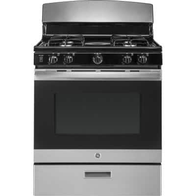 4.8 cu. ft. Gas Range in Stainless Steel