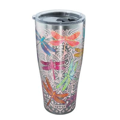Dragonfly Mandala 30 oz. Stainless Steel Tumbler with Lid